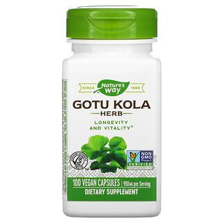 Nature's Way, Gotu Kola Herb, 475 mg, 100 Vegan Capsules