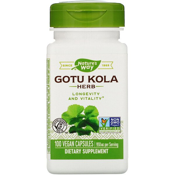 Nature's Way, Gotu Kola Herb, 950 mg, 100 Vegan Capsules
