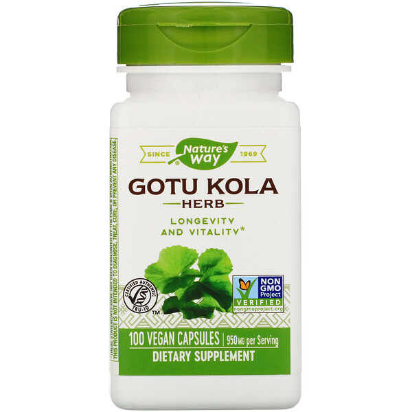 Nature's Way, Gotu kola, 950 mg, 100 capsules véganes