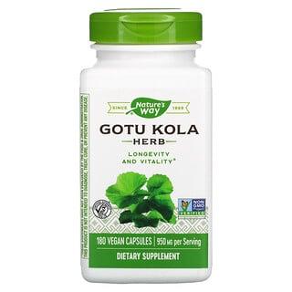 Nature's Way, Gotu Kola Herb, 475 mg, 180 Vegan Capsules