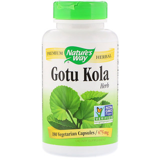 Nature's Way, Hierba Gotu Kola, 475 mg, 180 cápsulas vegetarianas