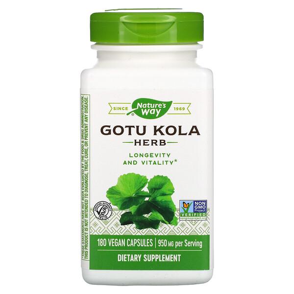 Gotu Kola Herb, 950 mg, 180 Vegan Capsules