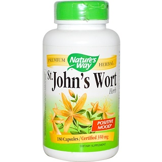 Nature's Way, St. John's Wort Herb, 350 mg, 180 Capsules
