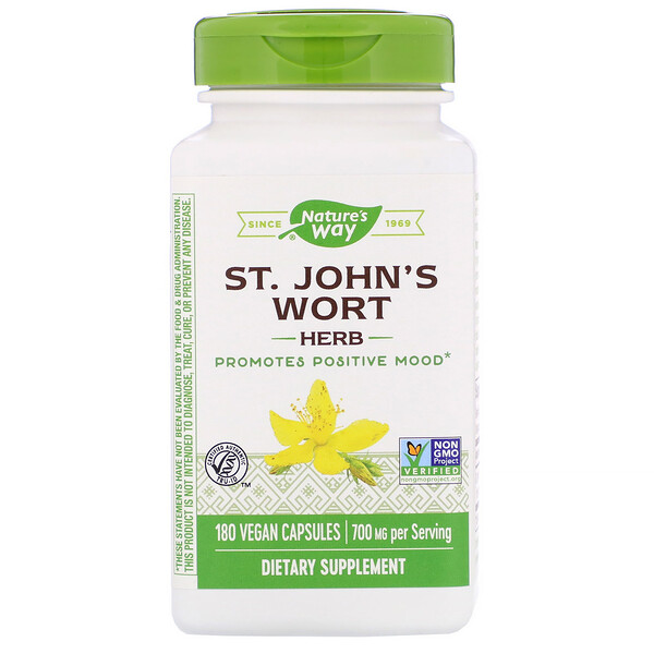 Nature's Way, St. John's Wort Herb, 700 mg, 180 Vegan Capsules