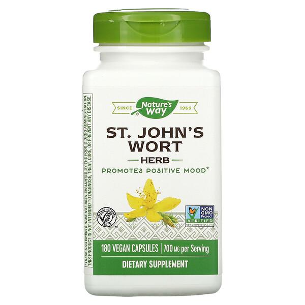 St. John's Wort Herb, 700 mg, 180 Vegan Capsules