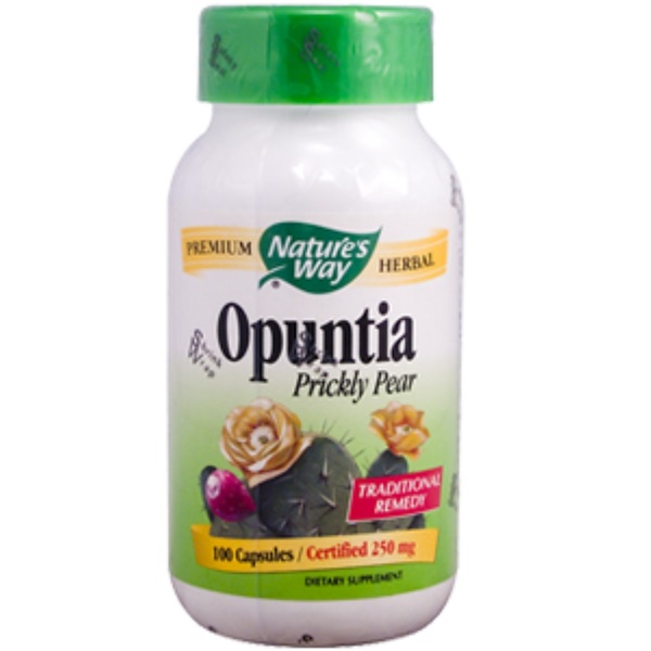 Nature's Way, Opuntia Prickly Pear, 250 mg, 100 Capsules (Discontinued Item)