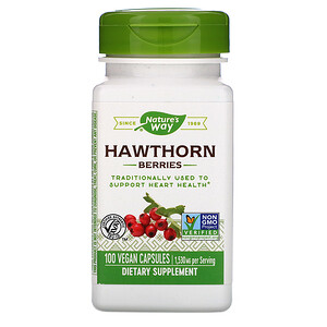 Натурес Вэй, Hawthorn Berries, 1,530 mg, 100 Vegan Capsules отзывы покупателей