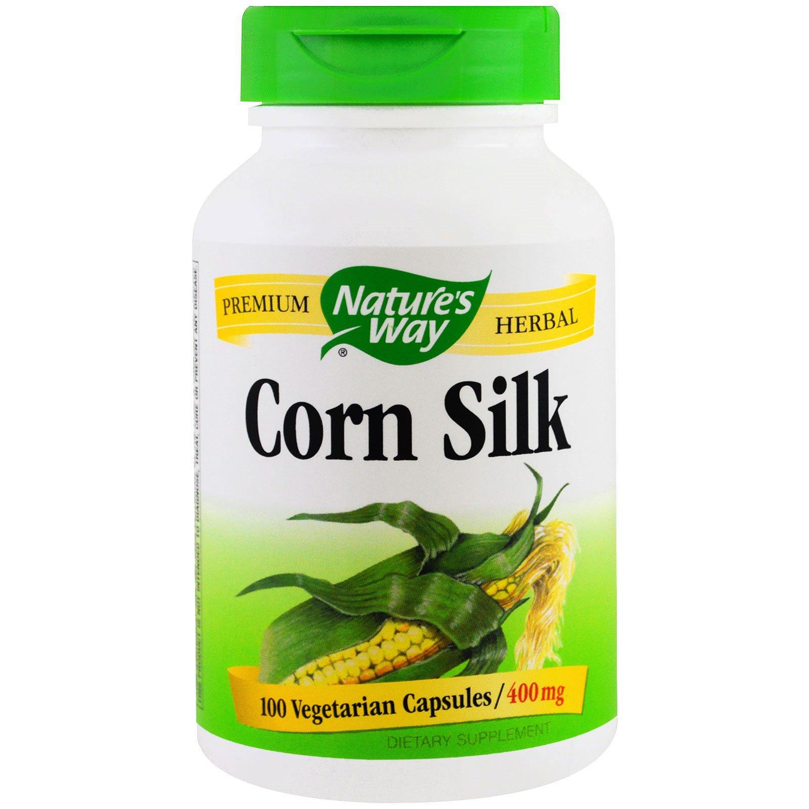 Nature's Way, Кукурузный шелк, 400 мг, 100 вегетарианских капсул