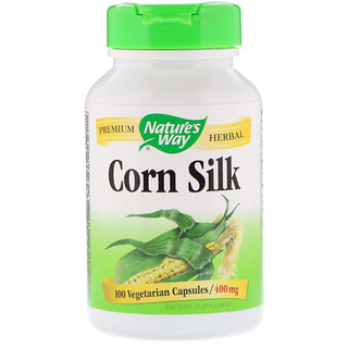 Nature's Way, Corn Silk, 400 mg, 100 Vegetarian Capsules
