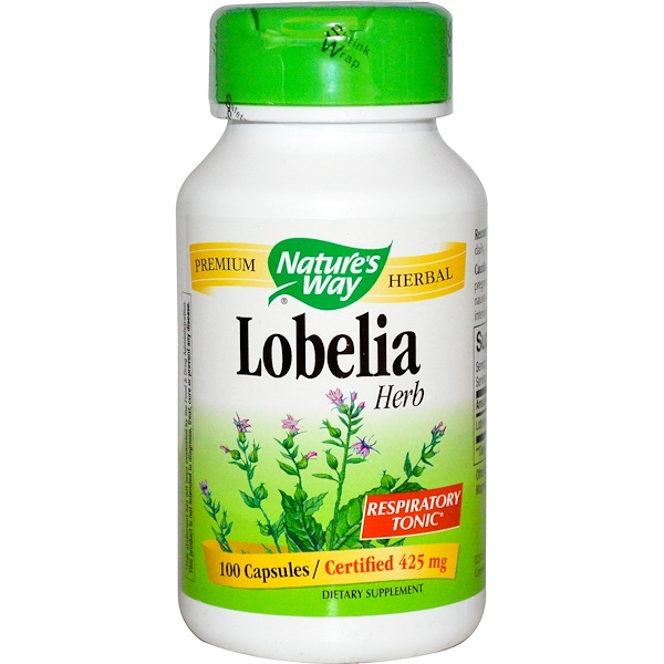 Nature's Way, Lobelia Herb, 425 mg, 100 Capsules (Discontinued Item)