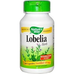Натурес Вэй, Lobelia Herb, 425 mg, 100 Capsules отзывы покупателей