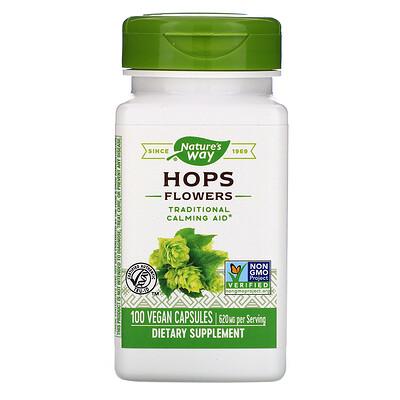 Купить Nature's Way Hops Flowers, 620 mg, 100 Vegan Capsules