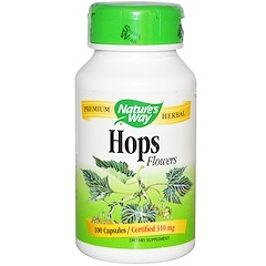Nature's Way, Hops Flowers, 310 mg, 100 Capsules