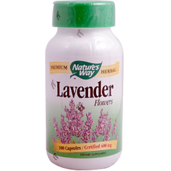 Nature's Way, Lavender Flowers, 400 mg, 100 Capsules (Discontinued Item)