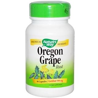 Nature's Way, Корень орегонского винограда, 500 мг, 90 капсул