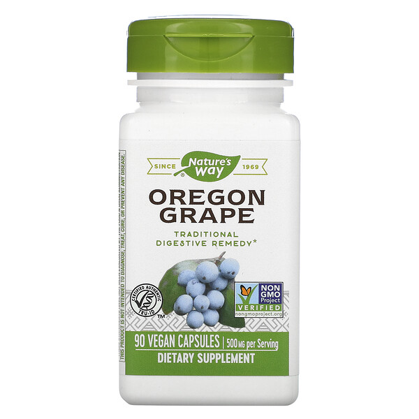 Nature's Way, Oregon Grape, 500 mg, 90 Vegan Capsules
