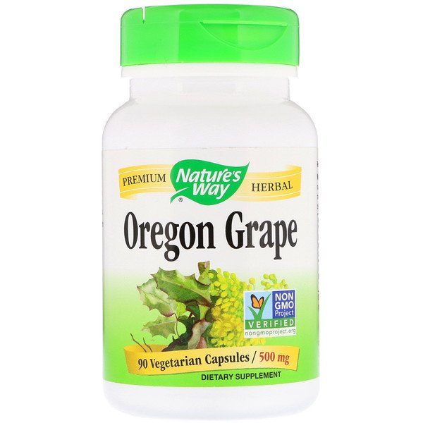 Nature's Way, Oregon Grape, 500 mg, 90 Vegetarian Capsules