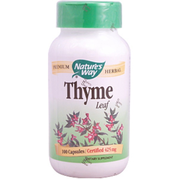 Nature's Way, Thyme Leaf, 425 mg, 100 Capsules (Discontinued Item)