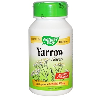 Nature's Way, Yarrow Flowers, 325 mg, 100 Capsules