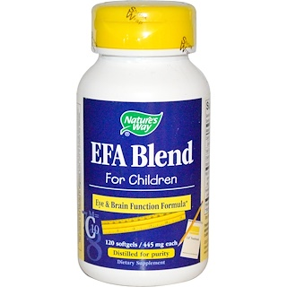 Nature's Way, EFA Blend, for Children, 445 mg, 120 Softgels