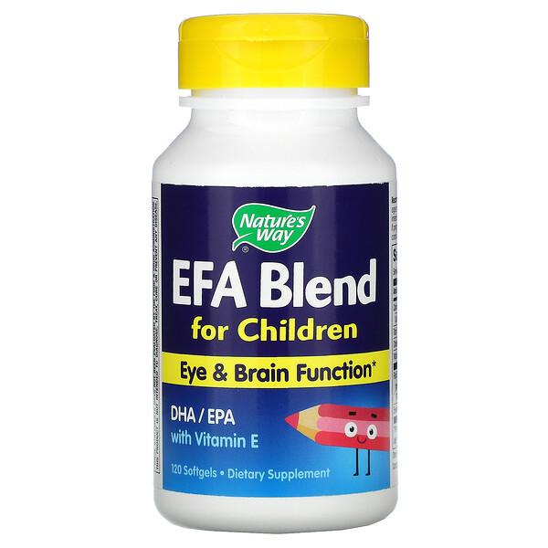 Nature's Way, 針對兒童的 EFA 配方,120 粒軟凝膠