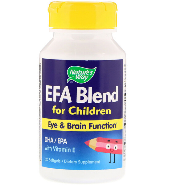 Nature's Way, EFA Blend, for Children, 120 Softgels