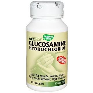 Nature's Way, FlexMax, Glucosamine Hydrochloride with Stomach Guard, 80 Tablets