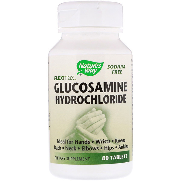 Nature's Way, FlexMax, Clorhidrato de glucosamina, 80 tabletas