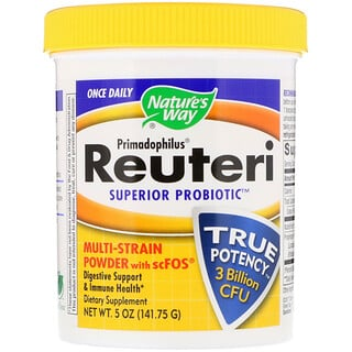 Nature's Way, Primadophilus, Reuteri Superior Probiotic, Multi-Strain Powder with scFOS, 5 oz (141.75 g)