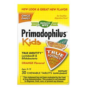 Натурес Вэй, Primadophilus, Kids, Age 2-12, Orange Flavored, 3 Billion CFU, 30 Chewable Tablets отзывы покупателей