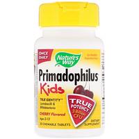Primadophilus, Kids, Cherry, 3 Billion CFU, 30 Chewable Tablets - фото