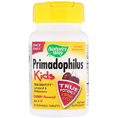 Nature's Way, Primadophilus, Kids, Cherry, 30 Chewable Tablets
