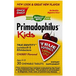 Натурес Вэй, Primadophilus, Kids, Age 2-12, Cherry Flavored, 3 Billion CFU, 30 Chewable Tablets отзывы