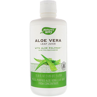 Nature's Way, Aloe Vera, Leaf Juice, 33.8 fl oz (1 Liter)