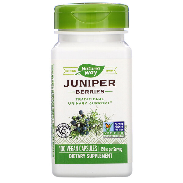 Nature's Way, Juniper Berries, 850 mg, 100 Vegan Capsules