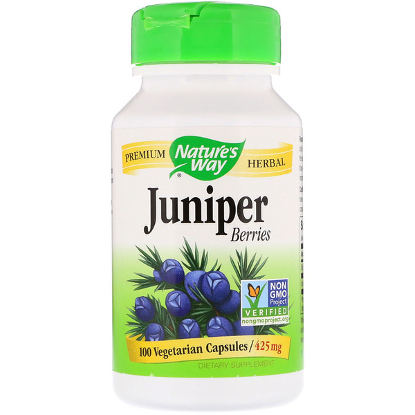 Nature's Way, Juniper Berries, 425 mg, 100 Vegetarian Capsules