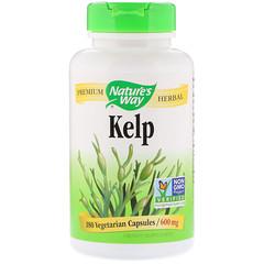 Nature's Way, Kelp, 600 mg, 180 Vegetarian Capsules