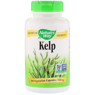 Nature's Way, Kelp, 600 mg, 180 Cápsulas Vegetais