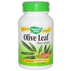 Nature's Way, Olive Leaf, 500 mg , 100 Vegetarian Capsules