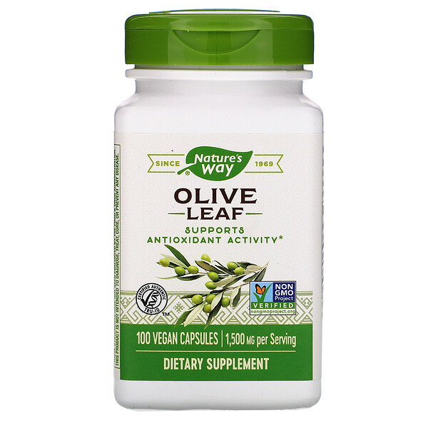 Olive Leaf, 1,500 mg, 100 Vegan Capsules