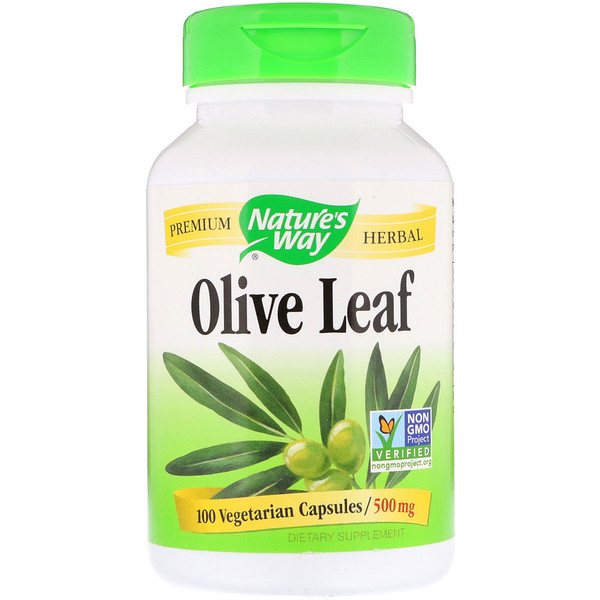 Nature's Way, Olive Leaf, 500 mg, 100 Vegetarian Capsules