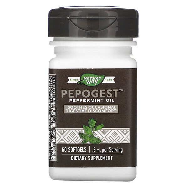 Pepogest, Peppermint Oil, .2 mg, 60 Softgels