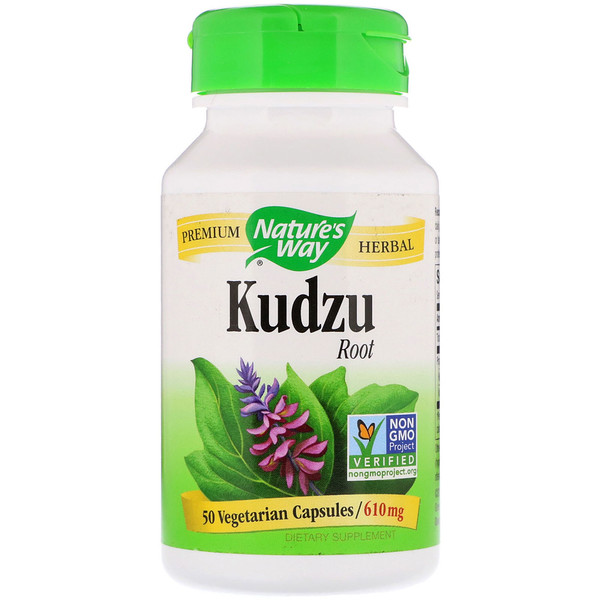 Nature's Way, Kudzu Root, 610 mg, 50 Vegetarian Capsules
