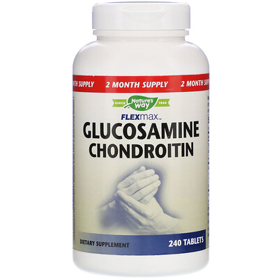 Natures Way FlexMax, Glucosamine Chondroitin, 240 Tablets