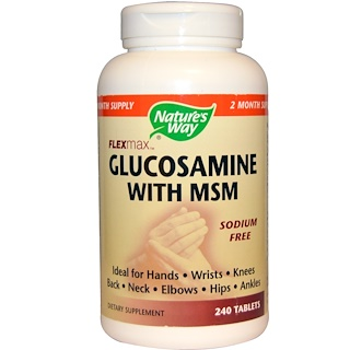 Nature's Way, Flexmax, Glucosamine with MSM, Sodium Free, 240 Tablets