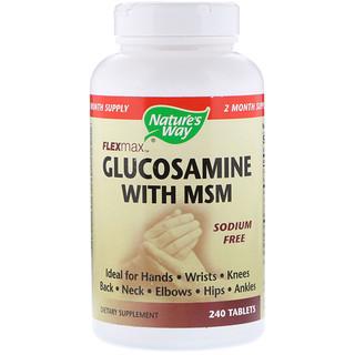 Nature's Way, FlexMax,葡萄糖胺含二甲基礬,不含鈉,240片