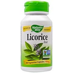 Nature's Way, Licorice Root, 450 mg, 100 Veggie Caps
