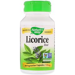 Nature's Way, Licorice Root, 450 mg, 100 Vegetarian Capsules