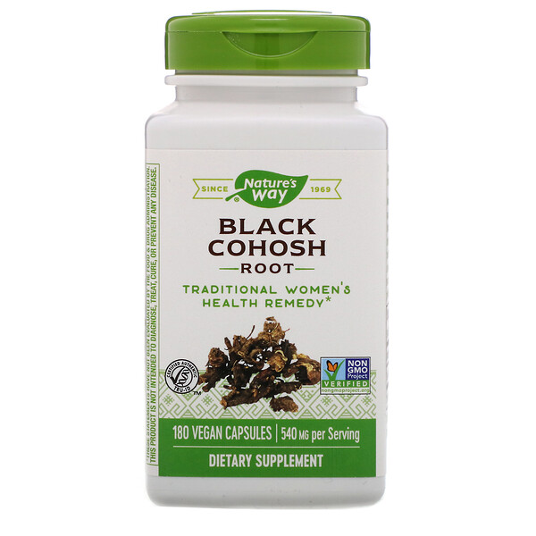 Black Cohosh Root, 540 mg, 180 Vegan Capsules