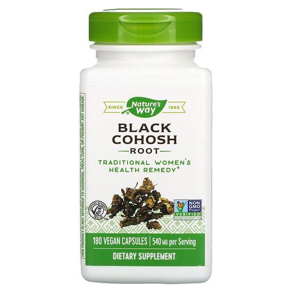 Black Cohosh Root, 540 mg, 180 Vegan Capsules